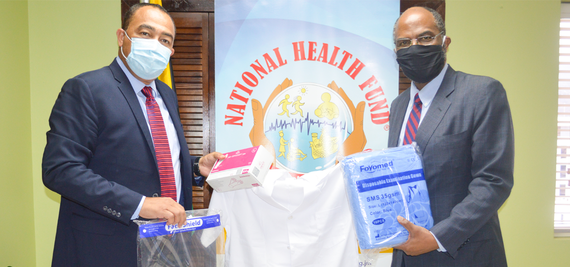 MINISTRY OF HEALTH & WELLNESS IN PARTNERSHIP WITH NHF DONATES TO THE JAMAICA CANCER SOCIETY
