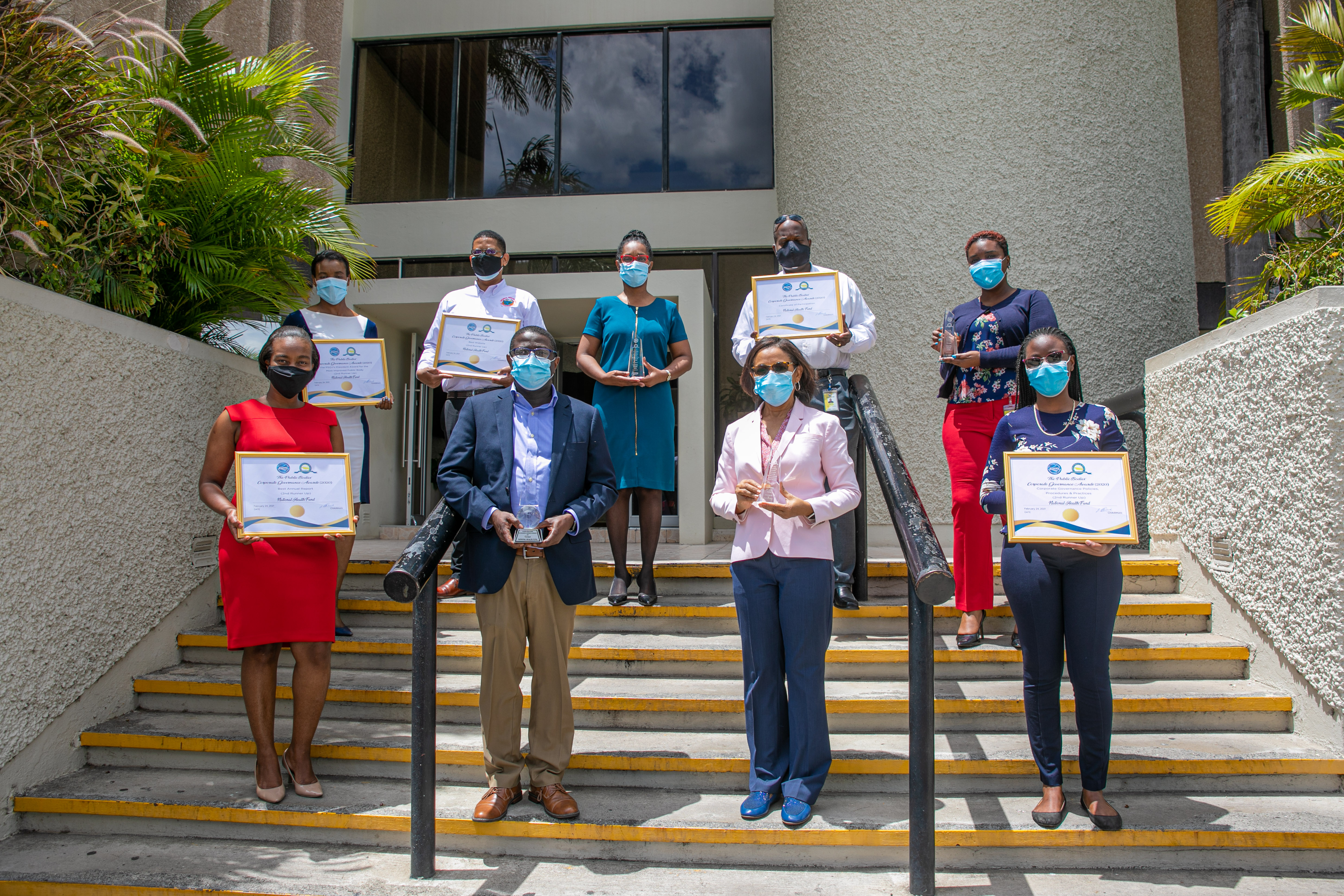 THE NATIONAL HEALTH FUND RECEIVED OVERALL WINNER OF THE 2020 GRETA BOGUES AWARD FOR EXCELLENCE IN PUBLIC BODIES CORPORATE GOVERNANCE, AT THE FOURTH STAGING OF THE MINISTRY OF FINANCE AND PUBLIC SERVICE/ PRIVATE SECTOR ORGANIZATION OF JAMAICA'S PUBLIC BODI
