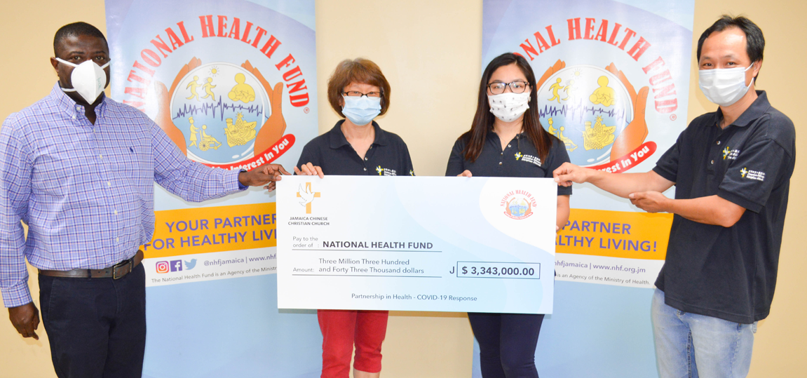 JAMAICA CHINESE CHRISTIAN CHURCH (JCCC) DONATES 3.3 MILLION TO NHF TO ASSIST WITH COVID-19 RELIEF EFFORTS