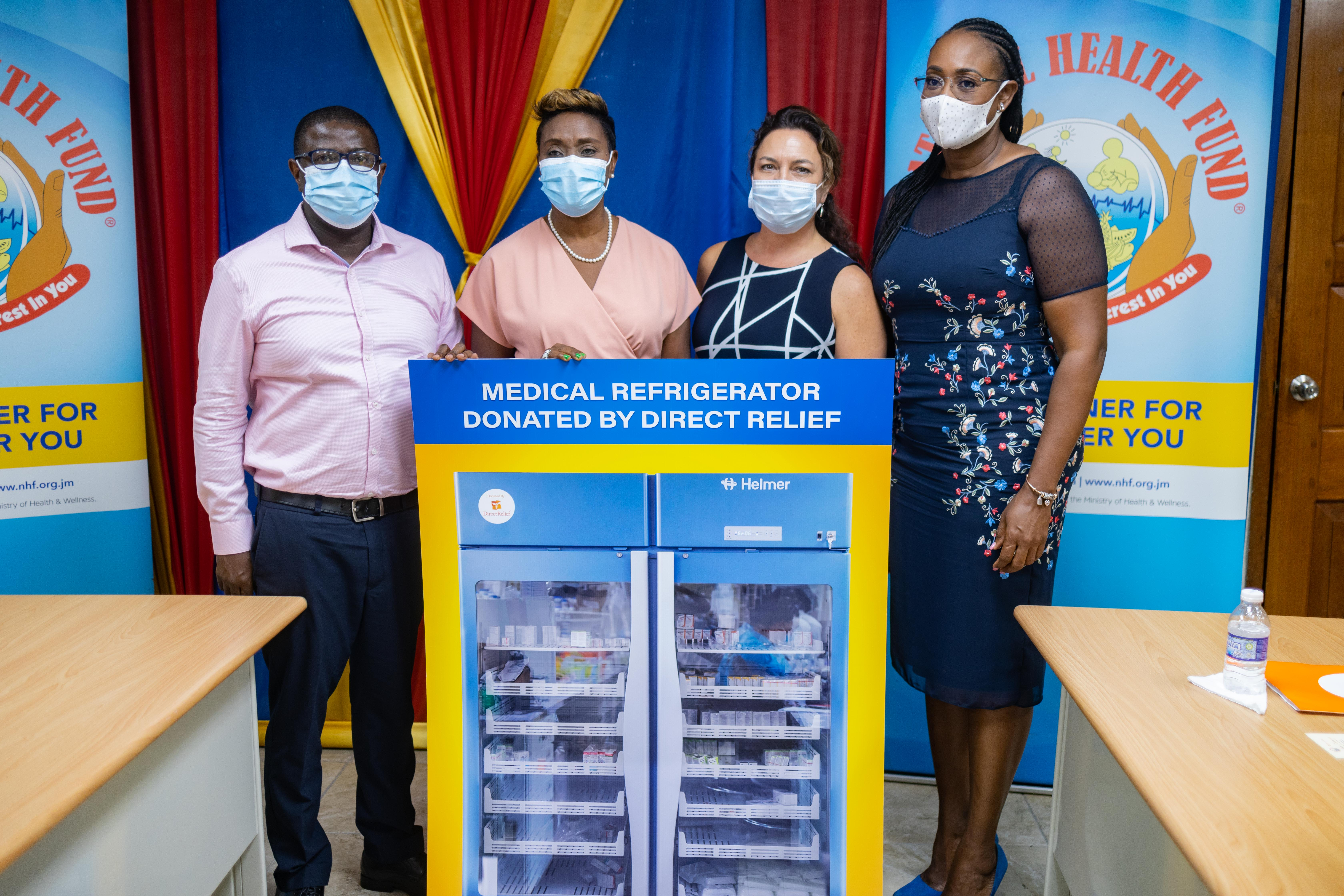 Direct Relief donated 20 medical refrigerators for the storage of temperature-sensitive pharmaceuticals items to the National Health Fund.