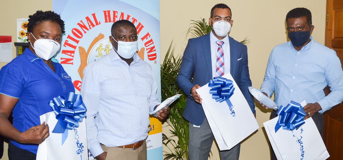 ROCHE PHARMACEUTICALS DONATES 3,000 MASKS TO NHF AND THE MINISTRY OF HEALTH AND WELLNESS TO AID HEALTHCARE WORKERS